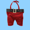 wholesale Santa Pants Double Wine Bottle christmas Gift Bag