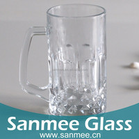 Hot Sell 565 ml Wicker Beer Machine Pressure Transparent Carlsberg Beer Glass Mug