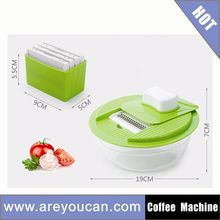 Hand-operated Vegetable Blender Manual Food Processor Plastic Food Chopper
