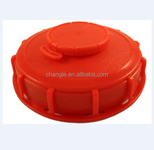 1000 L IBC Tank lid with hole vent plug 160mm red color