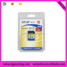 Hard Plastic blister SD cards packing clamshell box&memory card blister packaging