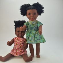 Wholesale 16 inch plastic vinyl fashion african american black girl doll