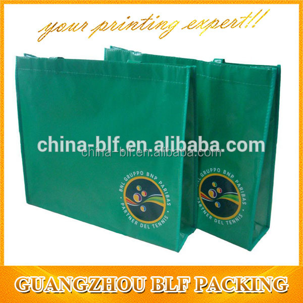 (BLF-NB417)Non-woven shopping bag for green color non woven material