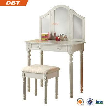 Wood dressing table dresser for bedroom set