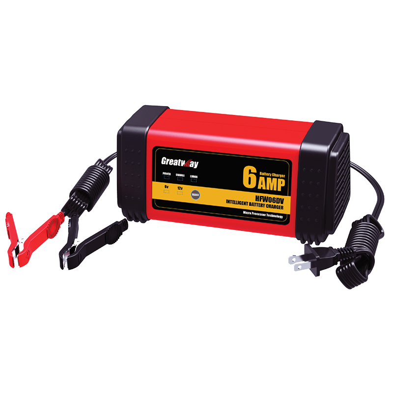 6/12V 3A, 6A Motorcycle and Vehicles battery charger and maintainer, intelligent battery charger