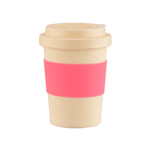 Reusable Rice Bamboo Fiber Travel Coffee Cup With Bamboo Fiber Lid 350ml