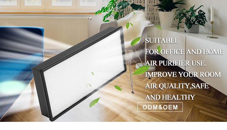 7-in-1 True HEPA Technology Activated Carbon Air purifier replacement filter Integrated with Pre-Filter