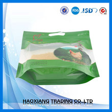 Stand up laminated chicken feed packaging bag with zipper