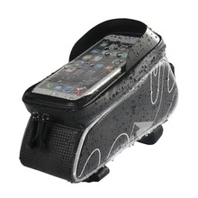 OEM Bicycle / MTB/ Road Bike Cycling waterproof PU Frame phone bag 6.0 Touch Screen bag Bicycle Front Tube Bag