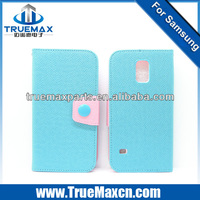 New arrival hot sales leather flip case for samsung galaxy s5, for s5 case large in stock