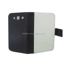 High quality blank sublimation leather flip case for Samsung S3