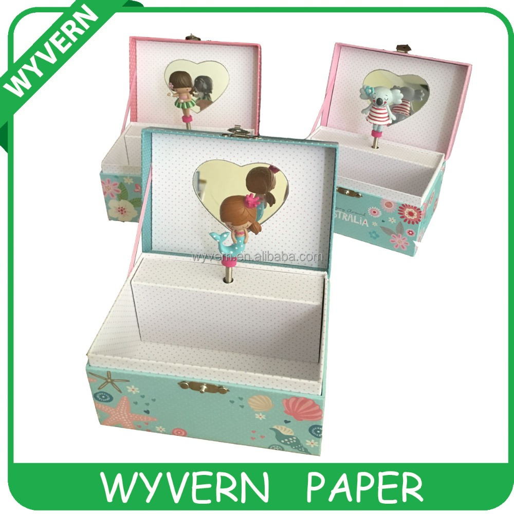 souvenir arched paper customized music box