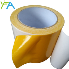 Self adhesive nonwoven double sided tape for carpet binding