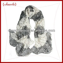 2013 fashion new design pretty elegant ladies silk scarf