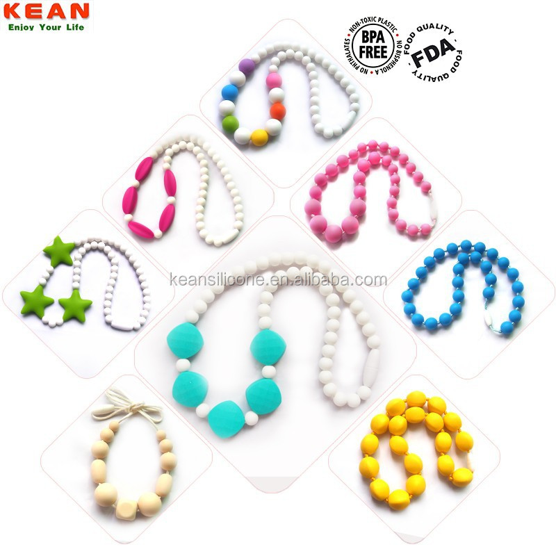 Flat silicone round shell beads for make necklace heart beads