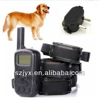 X600 anti bark rechargeable remote control adjustable slave dog training vibating shock collar and leashes and electronic fence
