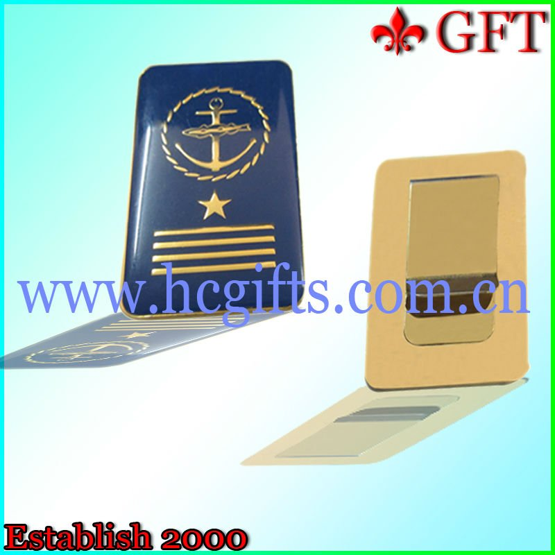 Free mold fee custom logo BRASS MONEY CLIP GIFT BOXED
