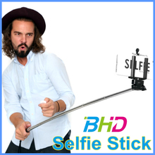 Wired selfie stick,borong handheld monopod,channel selfie stick