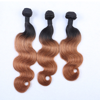 14 inch body wave Brown virgin hair weaving