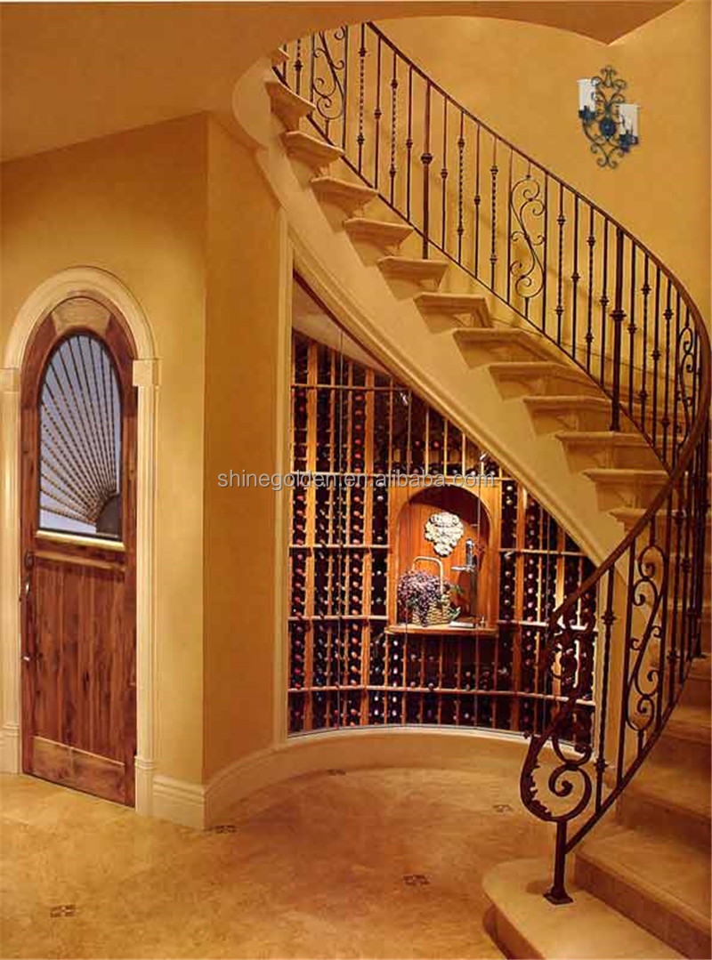 Steel Casting Interior Wrought Iron Stair Railings SG-15H001