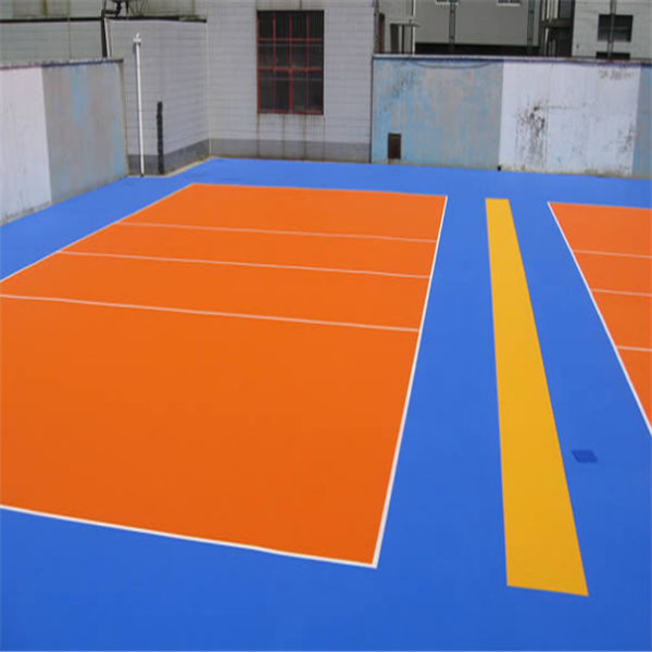 Portable used volleyball sport court