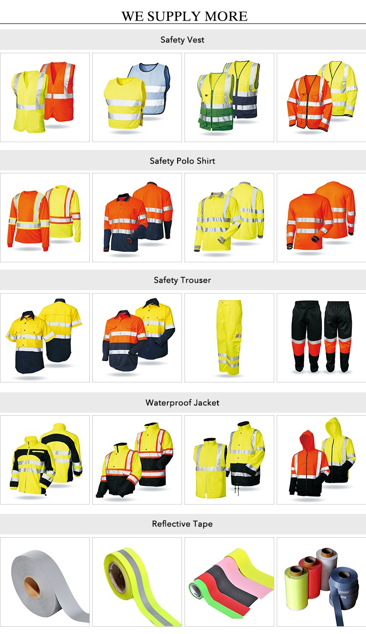 LX903 High Visibility Polar Fleece Zip Up Safety Hoodie Jacket