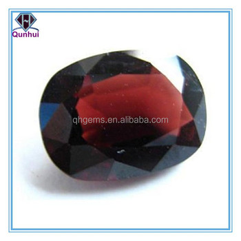 oval shaped deep garnet cubic zirconia