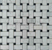 basket weave marble mosaic tile rectangle mosaic medallion floor patterns