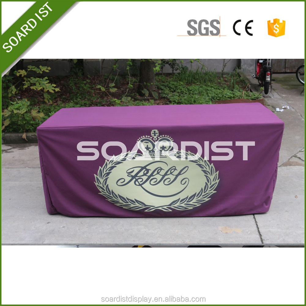 6/8ft durable Trade Show Ultra Fit table cloth