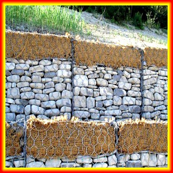Stone Cage Gabion Retaining Wall / Heavy Hexagonal Wire Mesh Netting / Gabion Cages