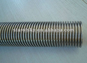ASTM 316 stainless steel corrugated flexible bellows hose