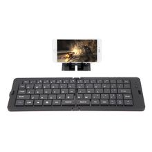 White/Black Foldable Wireless Bluetooth 3.0 Keyboard for iPhone Google Samsung Android Smartphone Tablet Laptop