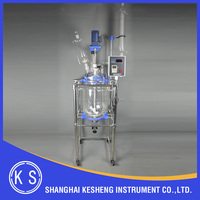 Jacketed glass reactor For Lab