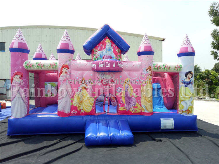 Hot Selling New Design Inflatable Princess Castle with Obstacle Bouncer and Slide