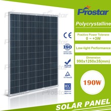 High efficiency high quality Prostar factory direct supply poly sunel panel 190w