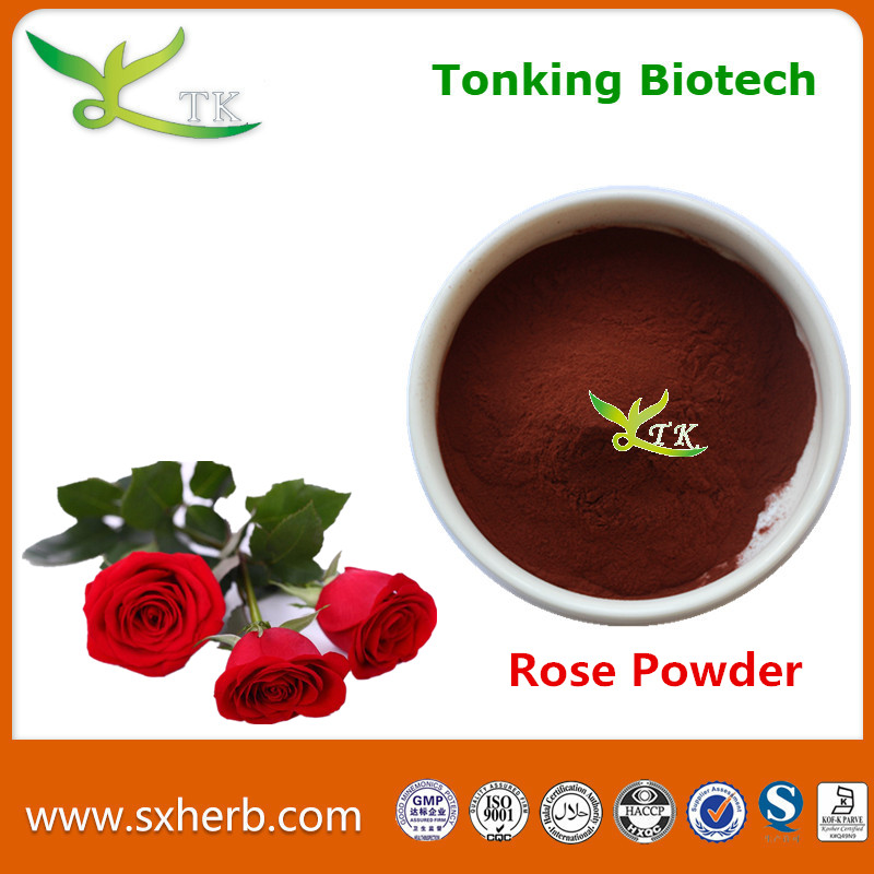 natural cosmetic grade rose petal powder