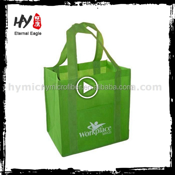 <strong>Eco</strong> friendly reusable personalized folding handle non woven bag