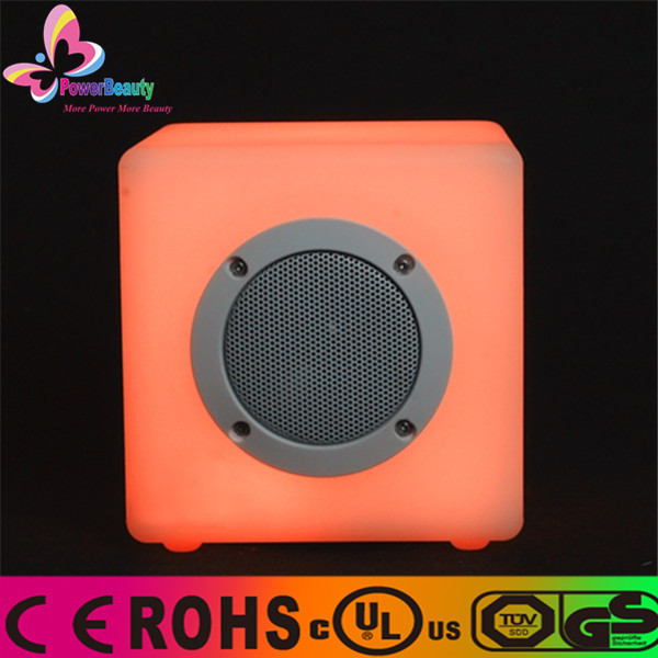 2016 active ipx4 cube outdoor music portable wireless mini waterproof bluetooth speaker with led light