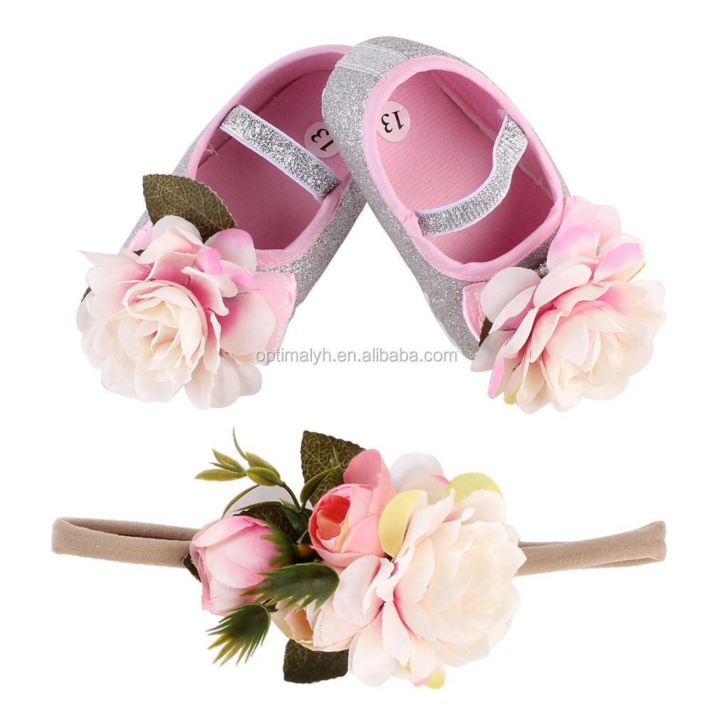 Newborn Baby Girls Shoes Children 3d Handmade Flower Shoes With