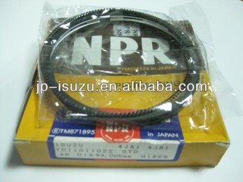 ISUZU auto parts, repuesto para isuzu NPR 4HF1 4.3L Piston ring, anillos para piston