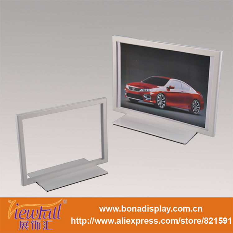 Matte advertising standing frame display table poster rack
