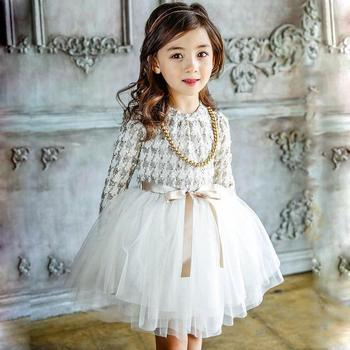korean children autumn dress 2018 baby girl princess puffy tutu dress