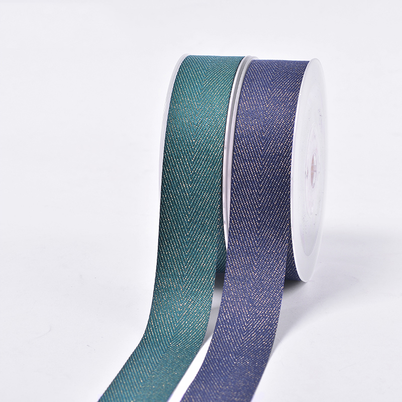 Various color OEM size gold purl Twill luxury gift pack grosgrain ribbon