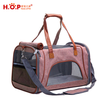 Luxury Airline Approved Soft Sided Pet Carrier Travel Bag Dog Carrier For Under Seat