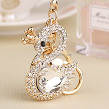HOT SALE SHINING GIRL GIFT CRYSTAL DIAMOND SWAN KEY CHAIN