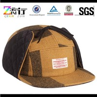 fashion custom 5 panel hat with dog ear