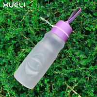 Leak Proof Sport Wide Mouth Folding water bottle New style collapsible silicone water bottle