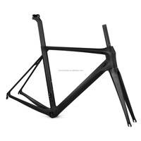 2016 YISHUNBIKE ISO 4210 700C Road Bike T800 Carbon Fiber Light Stiff Speeding Bicycle Frame+Fork+Seat Post+Clamp Kit LCR004-V