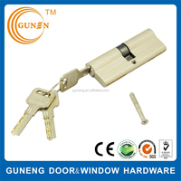 Euro Profile Rfid Oval Brass Key