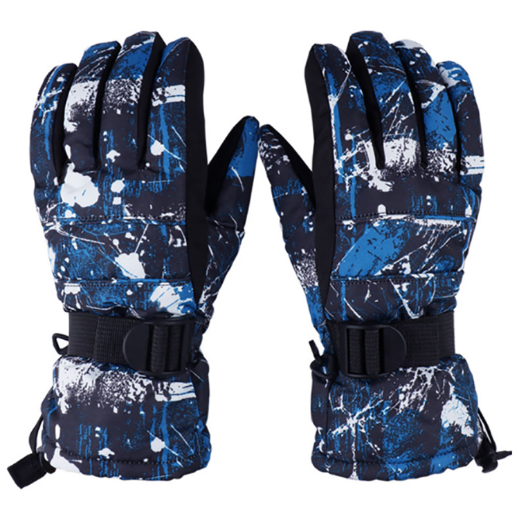 Men Waterproof Ski Snowboard Gloves Winter Warm Gloves Black multi model chose